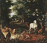 Jan the elder Brueghel The Original Sin [detail 1] painting